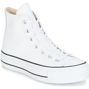 Chaussures Femme Baskets montantes Converse montante platform cuir Blanc