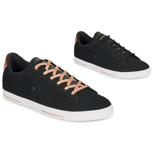 Chaussures Femme Baskets basses Le Coq Sportif AGATE METALLIC Noir / Or