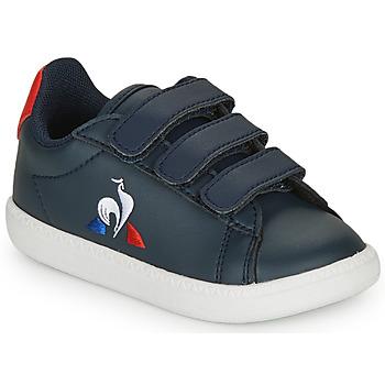 Chaussures Enfant Baskets basses Le Coq Sportif COURTSET INF Marine / Rouge