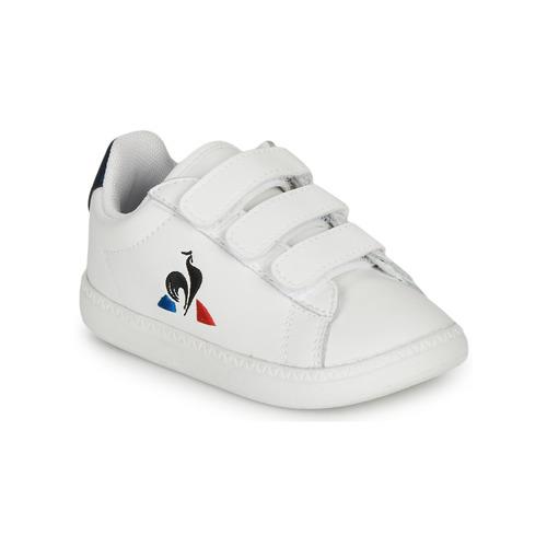 Chaussures Enfant Baskets basses Le Coq Sportif COURTSET INF Blanc