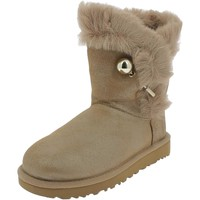 Chaussures Fille Bottes de neige UGG W CLASSIC FLUFF PIN Marron