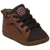 Chaussures Garçon Boots Shoo Pom bouba bi zip Marron
