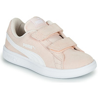 Chaussures Enfant Baskets basses Puma SMASH K RE Rose