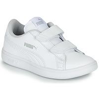 Chaussures Enfant Baskets basses Puma SMASH K BC Blanc