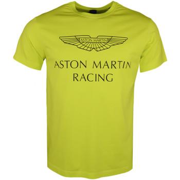 Vêtements Homme T-shirts manches courtes Hackett T-shirt col rond  Aston Martin jaune pour homme Jaune