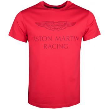 Vêtements Homme T-shirts manches courtes Hackett T-shirt col rond  Aston Martin rouge pour homme Rouge
