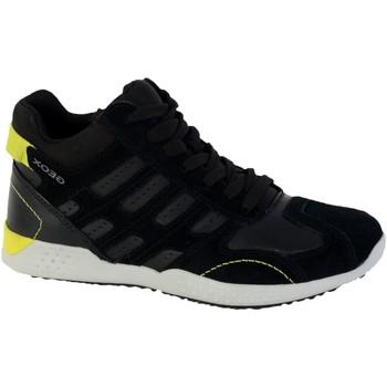 Chaussures Garçon Baskets mode Geox Basket Montante  Garçons Snake Noir