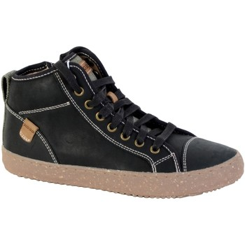 Chaussures Garçon Baskets mode Geox Basket Montante /Garçons J Alonisso B.G - WAX.LEA+CANV Noir