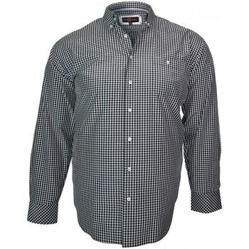 Vêtements Homme Chemises manches longues Doublissimo chemise a carreaux quadro noir Noir