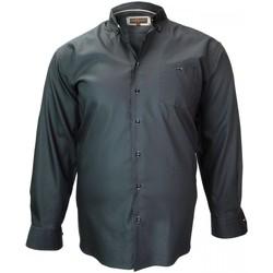 Vêtements Homme Chemises manches longues Doublissimo chemise mode bicolore noir Noir