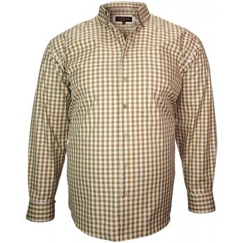 Vêtements Homme Chemises manches longues Doublissimo chemise casual vichy beige Beige