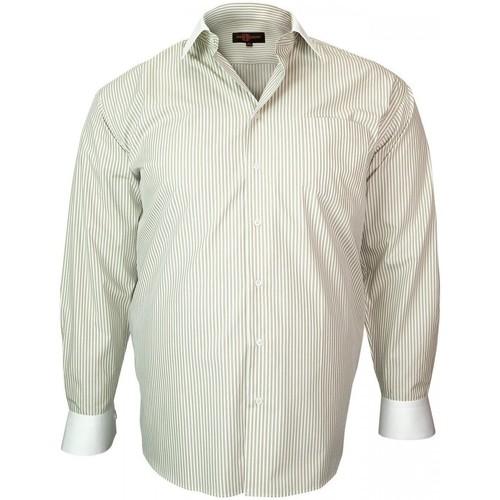 Vêtements Homme Chemises manches longues Doublissimo chemise col blanc smart beige Beige