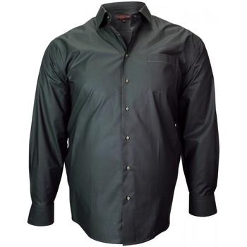 Vêtements Homme Chemises manches longues Doublissimo chemise tissu armure jacquard noir Noir