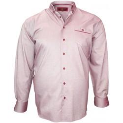 Vêtements Homme Chemises manches longues Doublissimo chemise sport oxford bordeaux Bordeaux