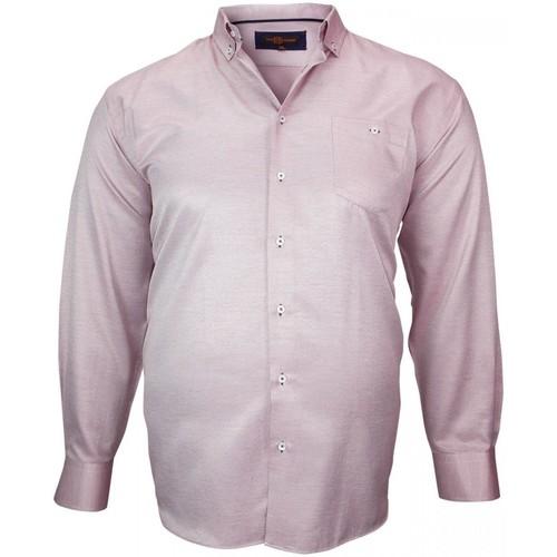 Vêtements Homme Chemises manches longues Doublissimo chemise repasage facile keneth bordeaux Bordeaux