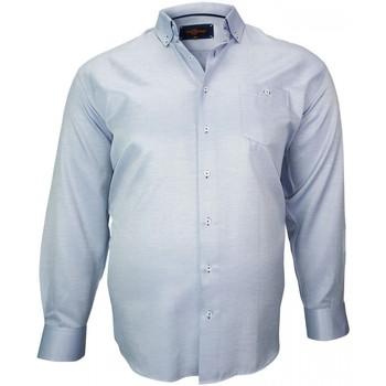 Vêtements Homme Chemises manches longues Doublissimo chemise repasage facile keneth bleu Bleu