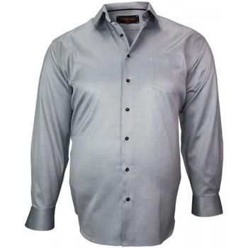 Vêtements Homme Chemises manches longues Doublissimo chemise double fil diagonal gris Gris
