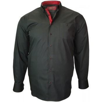 Vêtements Homme Chemises manches longues Doublissimo chemise repasage facile twini noir Noir