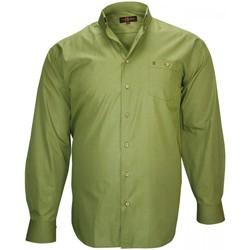 Vêtements Homme Chemises manches longues Doublissimo chemise sport normandie vert Vert