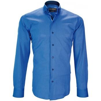 Vêtements Homme Chemises manches longues Emporio Balzani chemise casual arezo bleu Bleu