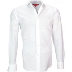 Vêtements Homme Chemises manches longues Andrew Mc Allister chemise voile de coton leeds blanc Blanc
