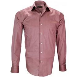 Vêtements Homme Chemises manches longues Emporio Balzani chemise fil a fil firenze rose Rose