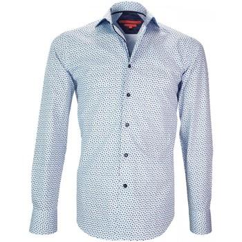 Vêtements Homme Chemises manches longues Andrew Mc Allister chemise imprimee glasgow bleu Bleu