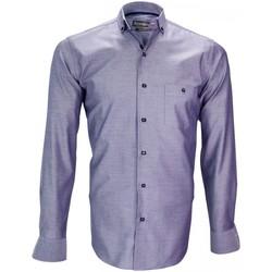 Vêtements Homme Chemises manches longues Emporio Balzani chemise mode torino violet Violet