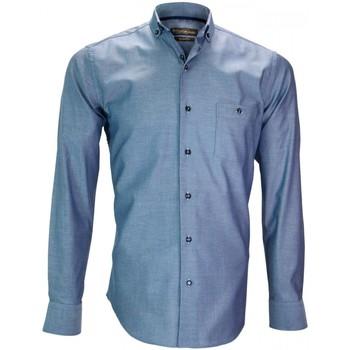 Vêtements Homme Chemises manches longues Emporio Balzani chemise mode torino bleu Bleu