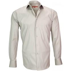 Vêtements Homme Chemises manches longues Andrew Mc Allister chemise en popeline bristol beige Beige