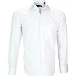 Vêtements Homme Chemises manches longues Emporio Balzani chemise tissu armure malpensa blanc Blanc