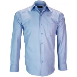 Vêtements Homme Chemises manches longues Emporio Balzani chemise tissu armure malpensa bleu Bleu