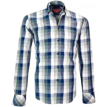 Vêtements Homme Chemises manches longues Andrew Mc Allister chemise casual sheffields bleu Bleu