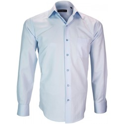 Vêtements Homme Chemises manches longues Emporio Balzani chemise repasage facile bari bleu Bleu