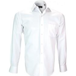 Vêtements Homme Chemises manches longues Emporio Balzani chemise repasage facile bari blanc Blanc