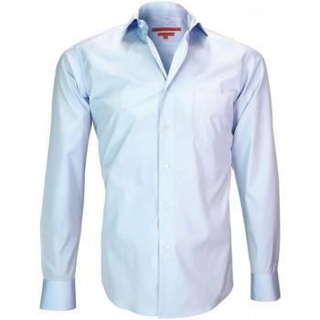 Vêtements Homme Chemises manches longues Andrew Mc Allister chemise en popeline coventry bleu Bleu