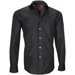 Vêtements Homme Chemises manches longues Andrew Mc Allister chemise en popeline coventry noir Noir