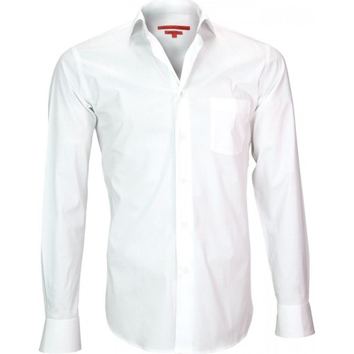Vêtements Homme Chemises manches longues Andrew Mc Allister chemise en popeline coventry blanc Blanc