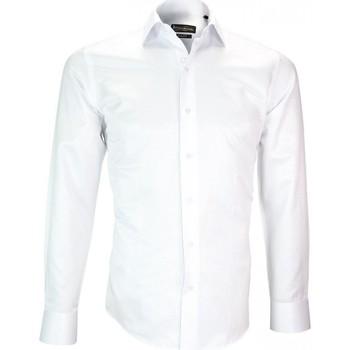 Vêtements Homme Chemises manches longues Emporio Balzani chemise repasage facile roma blanc Blanc