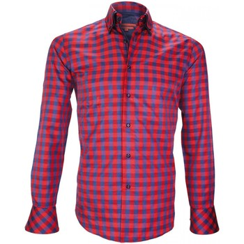 Vêtements Homme Chemises manches longues Andrew Mc Allister chemise double col cardiff rouge Rouge