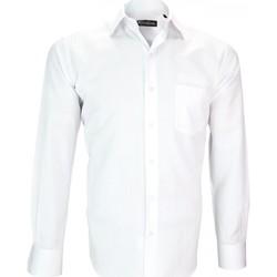 Vêtements Homme Chemises manches longues Emporio Balzani chemise tissu jacquard syracuse blanc Blanc