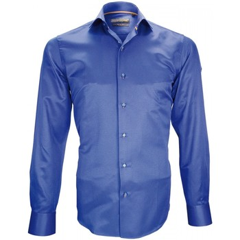 Vêtements Homme Chemises manches longues Emporio Balzani chemise tissu armuree saphire bleu Bleu