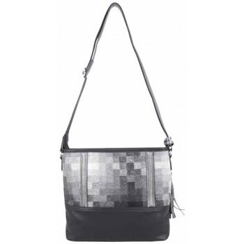 Sacs Femme Sacs Bandoulière Patrick Blanc Sac bandoulière  motif noir gris Noir