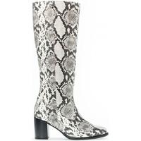 Chaussures Femme Bottes ville Gabor Botte cuir talon  façon block Gris