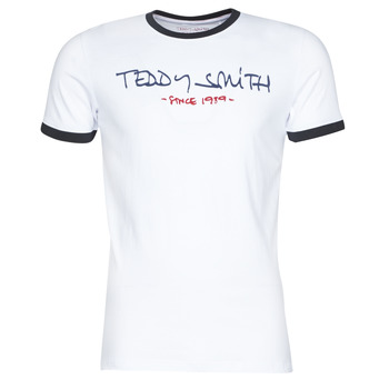 Vêtements Homme T-shirts manches courtes Teddy Smith RINGER TEE Blanc