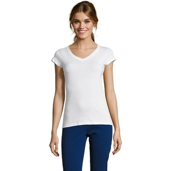 Vêtements Femme T-shirts manches courtes Sols MOON COLORS GIRL Blanco