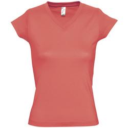 Vêtements Femme T-shirts manches courtes Sols MOON COLORS GIRL Rosa