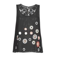 Vêtements Femme Débardeurs / T-shirts sans manche Desigual TEBAS Noir
