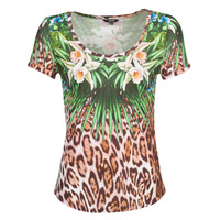 Vêtements Femme T-shirts manches courtes Desigual JUNGLE Multicolore