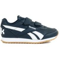 Chaussures Enfant Baskets basses Reebok Sport Royal Cljog 2 2V Blanc,Bleu marine